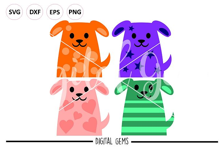 Dogs SVG EPS DXF PNG file