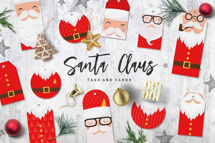 Santa Claus tags and cards
