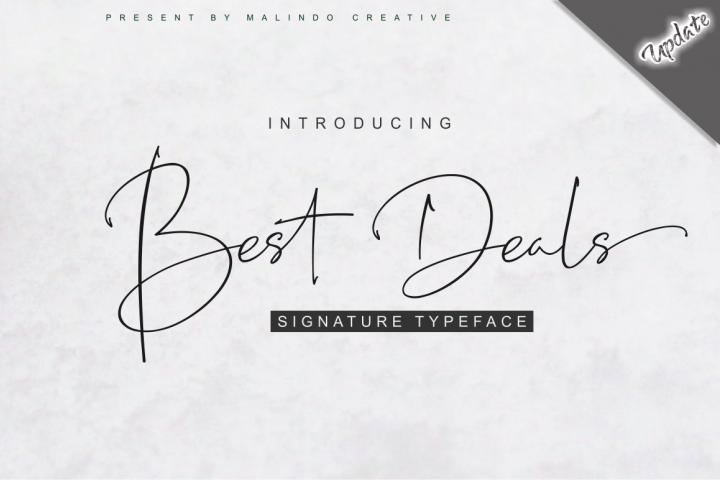 Best Deals   Signature Typeface