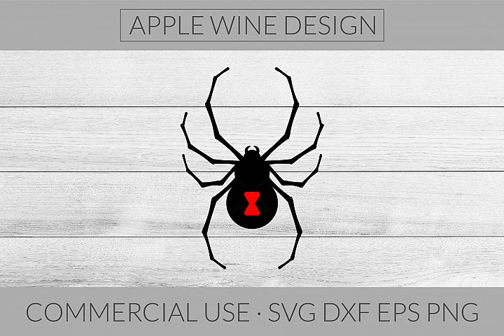 Black Widow Spider SVG DXF PNG EPS Cutting File