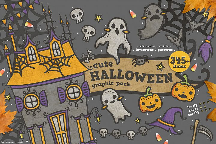 Cute Halloween - Spooky Graphic pack