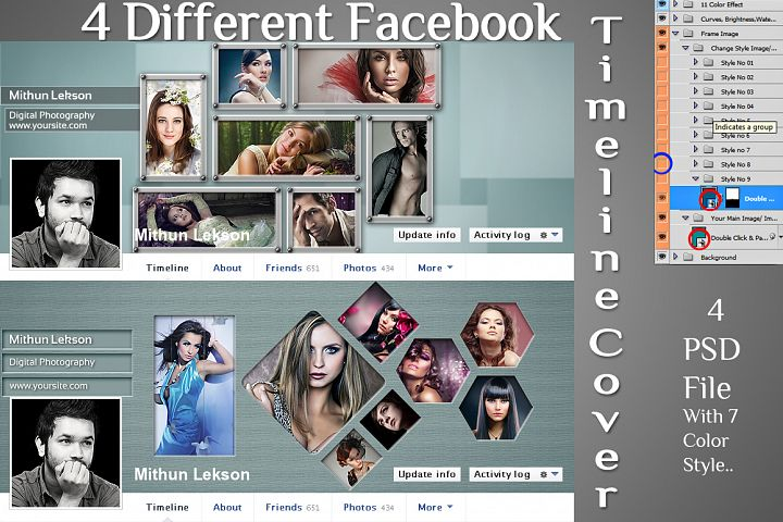 4 Different Facebook Timeline Cover