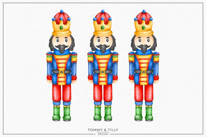 Watercolour Nutcracker - Sublimation PNG Clipart