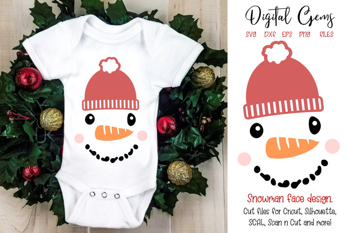 Snowman face SVG / PNG / EPS / DXF files