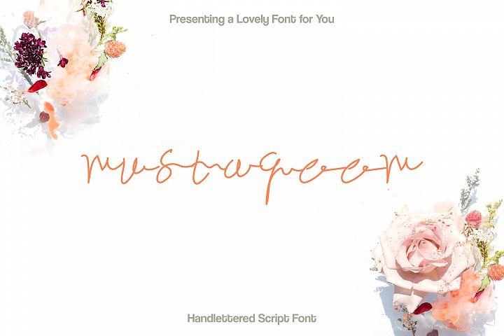 Mustaqeem - Handwritten Signature Font