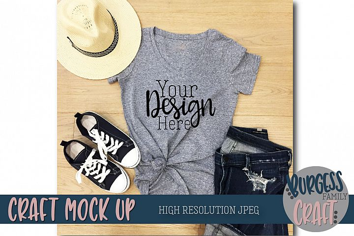 Styled summer t-shirt Craft Mock up | High Resolution JPEG