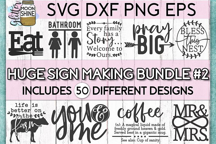 Huge Sign Making Bundle #2 SVG DXF PNG EPS Cutting Files