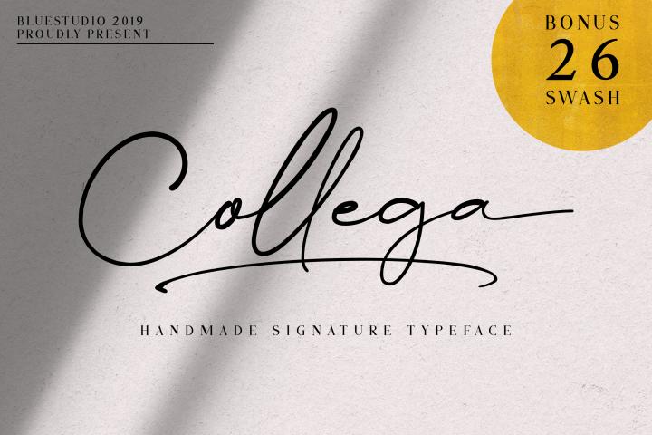Collega // Handmade Signature Typeface