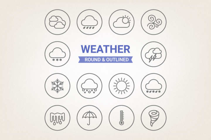 Circle Weather Icons