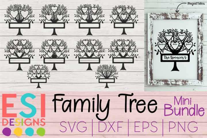 Family Tree Mini Bundle | Spaces for names and Surnames