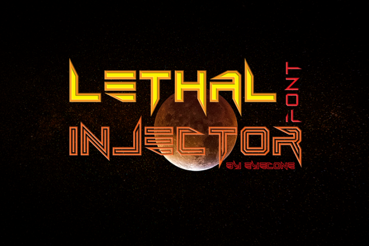 Lethal Injector Layered Typeface