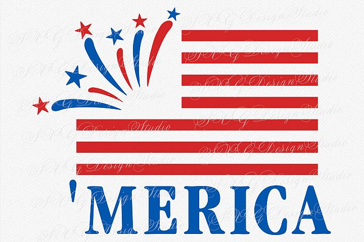 Merica flag, America Flag, Fourth of July SVG, 4th of July Patriotic SVG flag