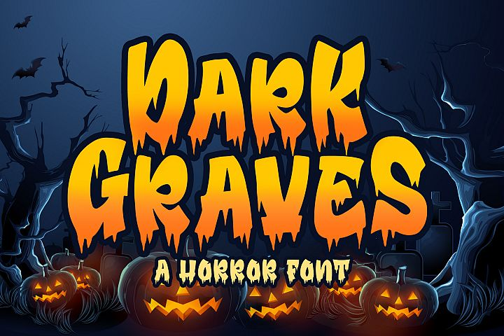 Dark Graves- a Horror Font