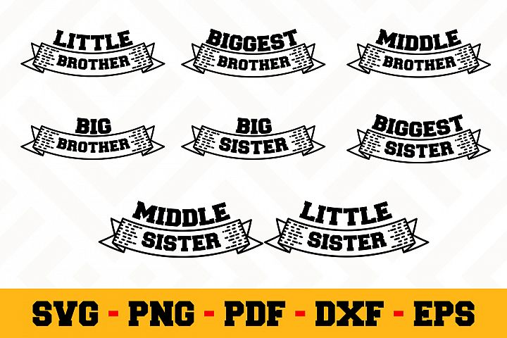 Brother Sister 8 Designs Pack | Family SVG Bundle