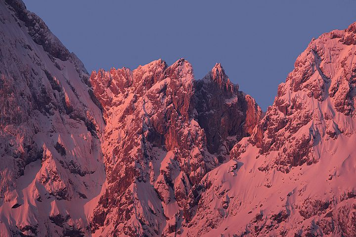 Majestic peaks in the morning