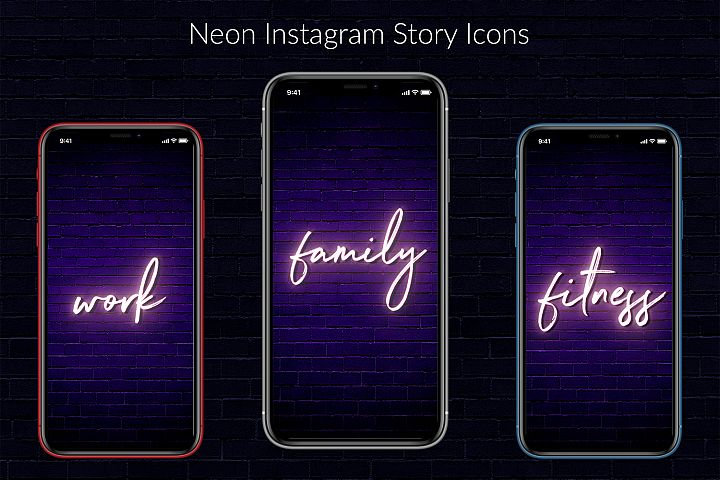 Neon Instagram Story Covers