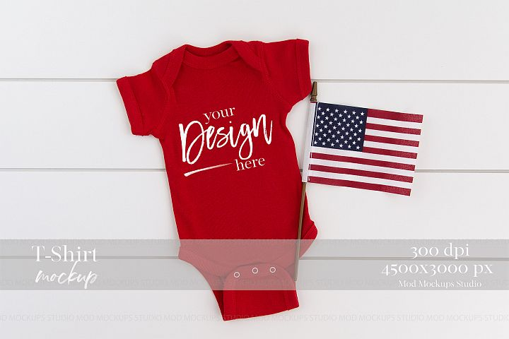 4TH of July Mock up Baby Mockups| Rabbit Skins 4400 Mockup