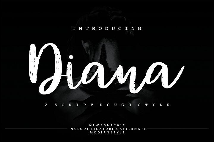 Diana Rough   Script Rough Style