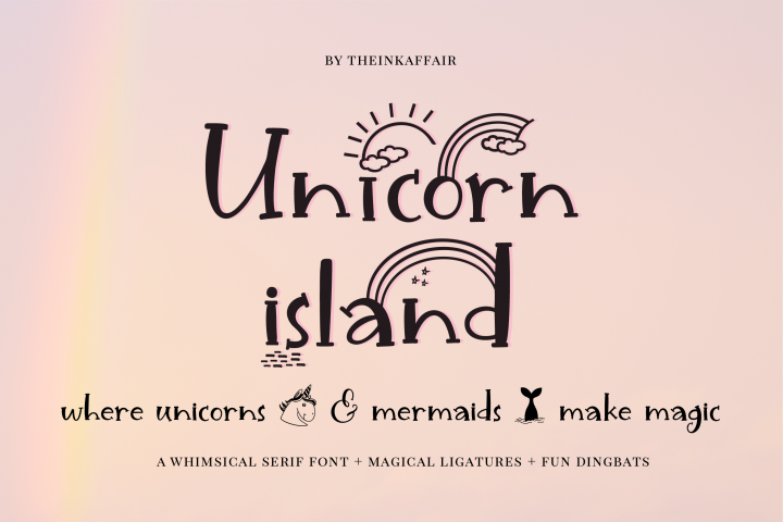 Unicorn Island Font and Dingbats