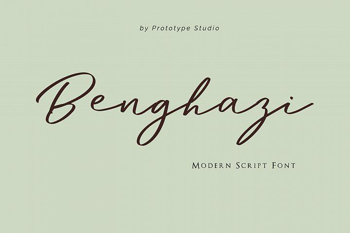 Benghazi Modern Script Font