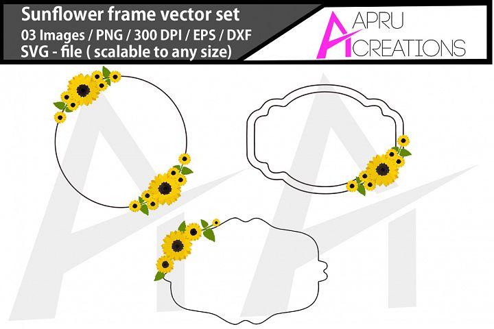 sunflower frames/ sunflower frames vector