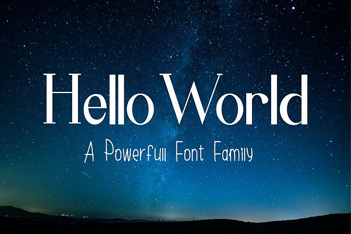 Hello World Font Family