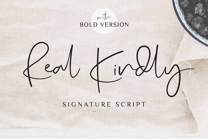 Real Kindly - Elegant Script