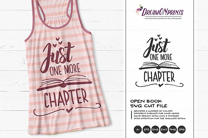 Just One More Chapter | Fun Book SVG Design