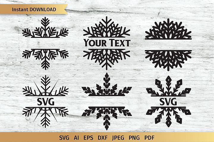 Snowflake Split Monogram