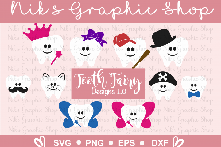 Tooth Fairy Design , Tooth Fairy SVG, Tooth SVG, Fairy SVG