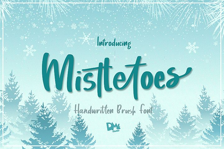Mistletoes - Handwritten Brush Font