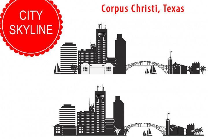 Corpus Christi SVG, Texas SVG, City Vector Skyline,  silhouette USA city, SVG, JPG, PNG, DWG, CDR, EPS, AI