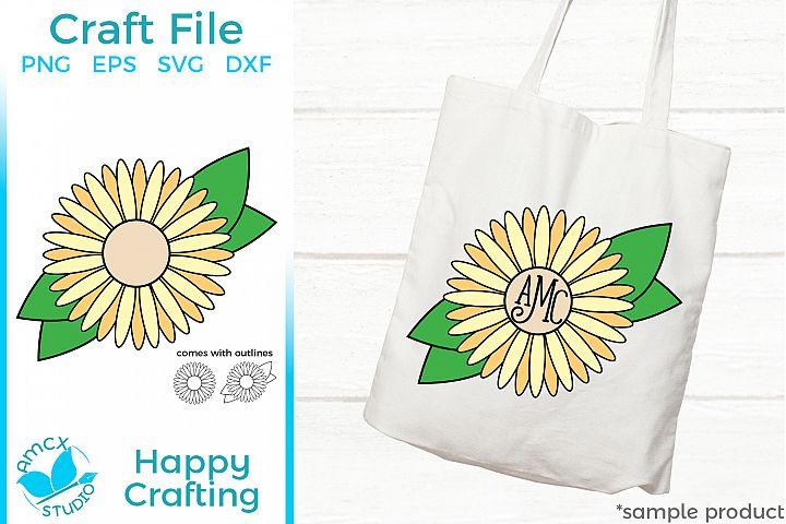 Flower Monogram - A Girly Monogram Craft File