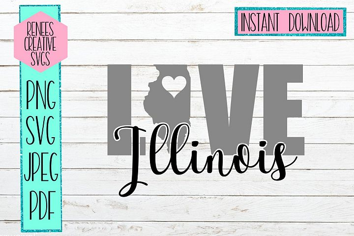 Illinois Love | State SVG | SVG Cutting file