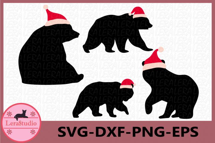 Bear Svg, Christmas Svg, Bear Christmas Cut Files, Bear