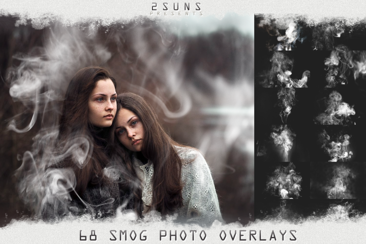 68 Fog Overlays, Smoke Overlays, Photoshop overlay Halloween