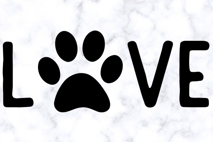 Love Dog Paw SVG | Dog Lover SVG | Dog Paw SVG