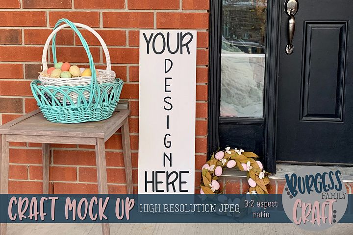 Easter porch sign Craft mock up |High Res JPEG
