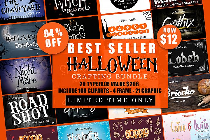 Best SELLER - Halloween Crafting Font BUNDLE