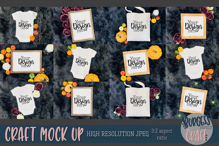 Halloween Bundle Craft mock up |High Res JPEG