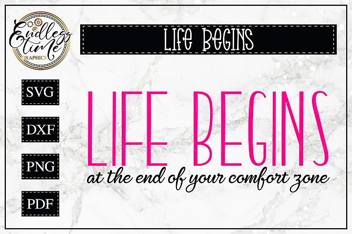Life Begins at the end of your Comfort Zone - A Motivational