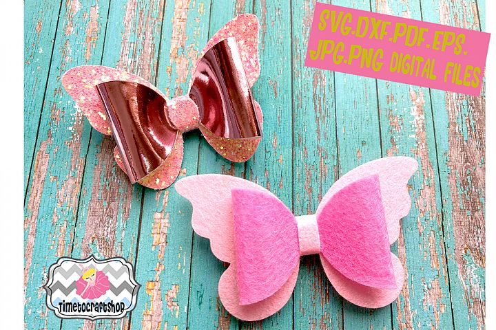 2 Styles Butterfly Bow Template Set