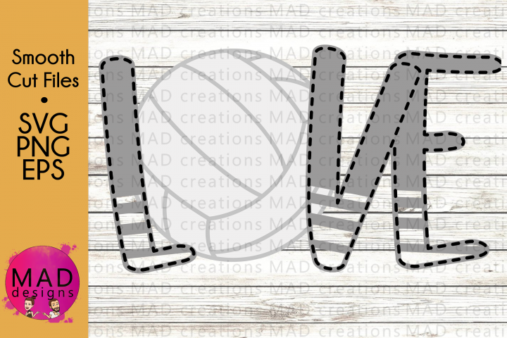 Sports - Love Volleyball - SVG, PNG, EPS