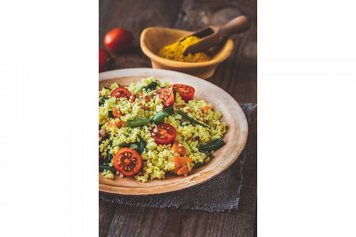 Millet stir-fry with vegetables
