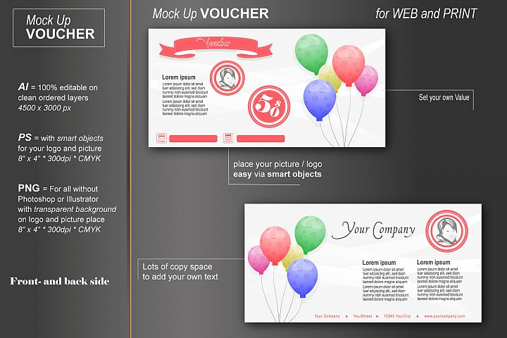Mockup - Gift Voucher - Happy Birthday