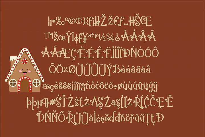 ZP Gingerbread Cake - Free Font of The Week Design 2