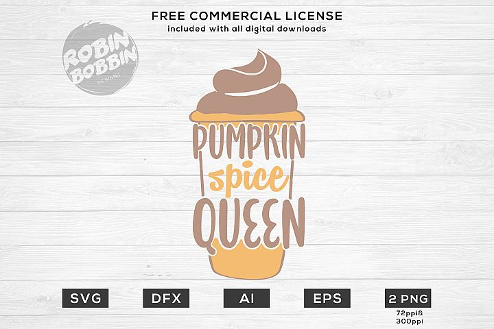 Pumpkin Spice Queen- Autumn SVG File