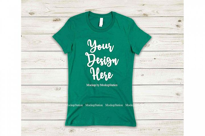 Green Shirt Mock Up, Bella Canvas 6004 Tshirt Mockup