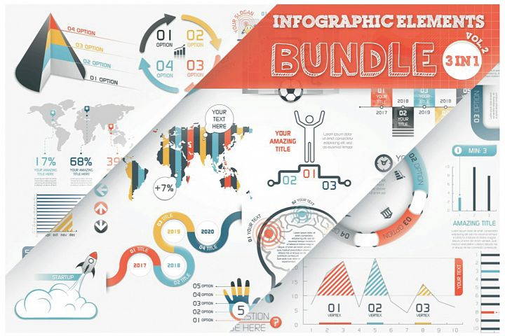 Infographic Elements Bundle 3 in 1 (vol. 2)