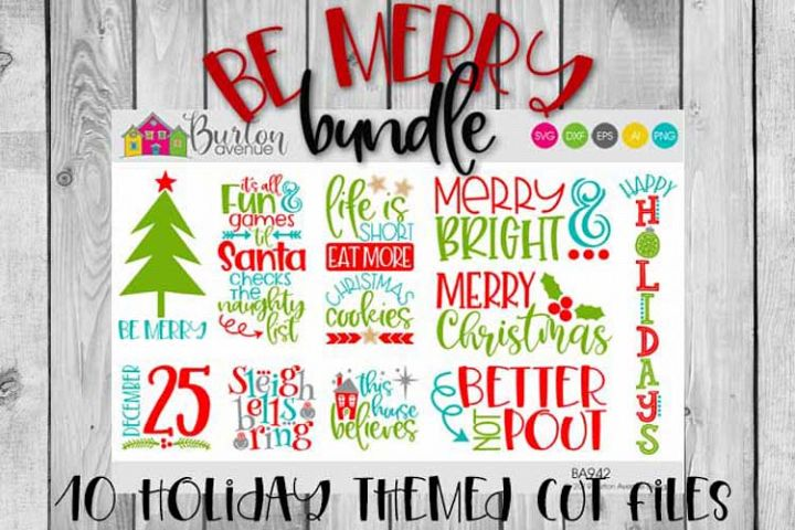 Be Merry Christmas SVG Bundle